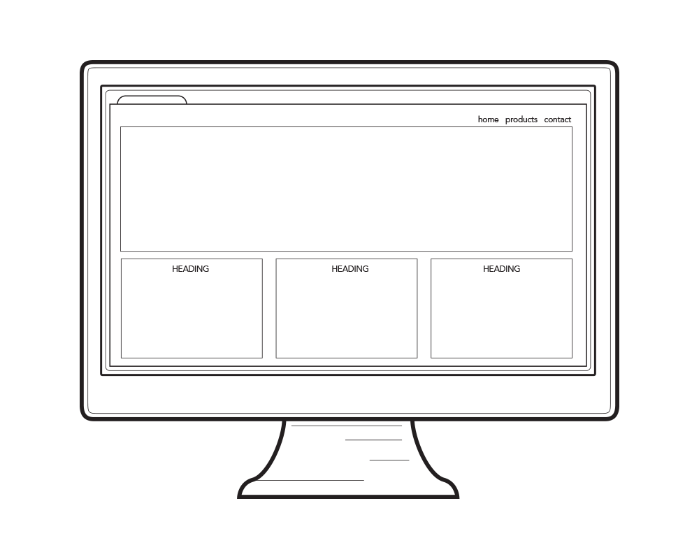 icon of computer screen