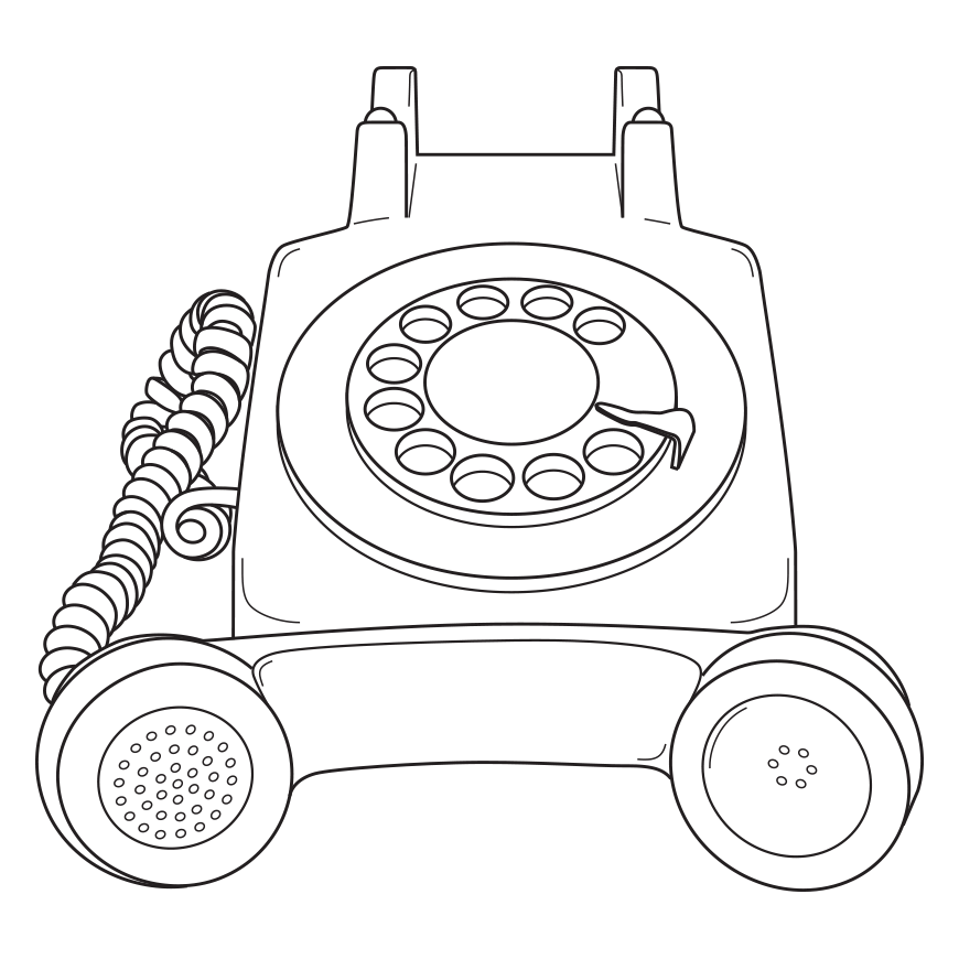 icon of rotary phone